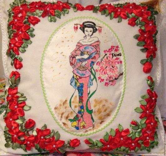 Текстиль, ковры ручной работы. Ярмарка Мастеров - ручная работа. Купить текстиль. ковры. Handmade. Бледно-розовый, роспись по ткани