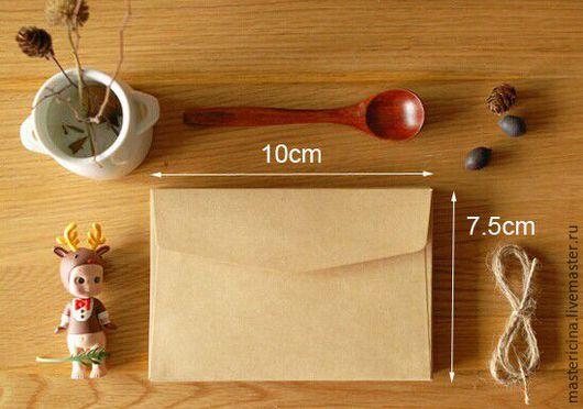 Упаковка ручной работы. Ярмарка Мастеров - ручная работа. Купить Конверты  для упаковки крафт 1. Handmade. Бежевый, упаковочный материал
