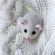 """Броши ручной работы. Ярмарка Мастеров - ручная работа. Купить Мышка брошь """"Для самых смелых Дам!!!""""))). Handmade. Мышь"""