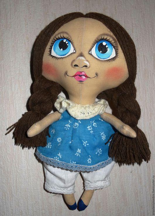 Коллекционные куклы ручной работы. Ярмарка Мастеров - ручная работа. Купить Текстильная Кукла  Очаровательная Голубоглазка. Handmade. Кукла интерьерная