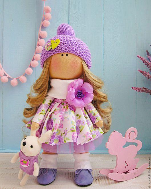 Куклы тыквоголовки ручной работы. Ярмарка Мастеров - ручная работа. Купить Цветочная фея. Handmade. Сиреневый, тыквоголовка, трикотаж