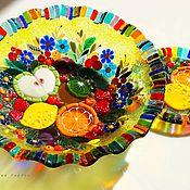 Посуда handmade. Livemaster - original item Fusing, glass dish, Delicious life. Handmade.