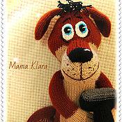 Куклы и игрушки ручной работы. Ярмарка Мастеров - ручная работа Собака деревенская,вязаная игрушка. Handmade.