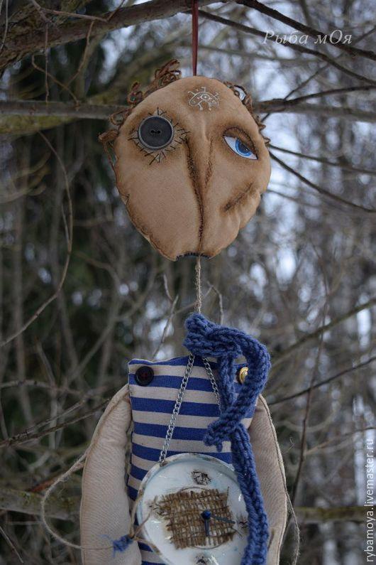 Интерьерная  кукла-часы ПтиЦын в чердачном стиле. Ярмарка мастеров-ручная работа. Handmade. Купить loft doll-clock Ptitsyn. Мастер Яга.