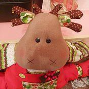 Куклы и игрушки ручной работы. Ярмарка Мастеров - ручная работа Лось Олаф - игрушка от сквозняка. Handmade.