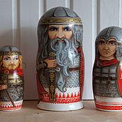 Русский стиль handmade. Livemaster - original item Matryoshka Russian heroes. Handmade.