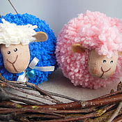 Подарки к праздникам ручной работы. Ярмарка Мастеров - ручная работа сНежные овечки белые, синие, розовые, бирюзовые и голубые. Handmade.