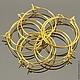 Швензы из проволоки с покрытием под золото для сборки сережек без замка с петелькой для крепления подвески
