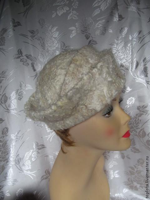 """Шляпы ручной работы. Ярмарка Мастеров - ручная работа. Купить шляпка валяная """"Кудрявое удовольствие"""". Handmade. Белый, шляпки"""