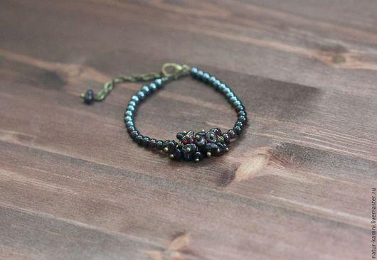 браслет из гематита браслет из граната украшения натуральные камни браслет натуральные камни минимализм браслет на заказ индивидуальные украшения на заказ