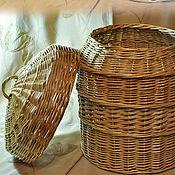 """Для дома и интерьера ручной работы. Ярмарка Мастеров - ручная работа Плетёный короб для кухни """"Помощник"""" круглый. Handmade."""