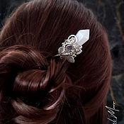Украшения handmade. Livemaster - original item Hairpin with crystal rhinestone for hair