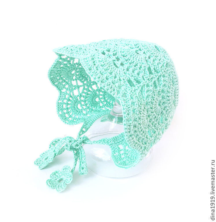 cap knitted, hat for baby, knitted cap summer, buy the hat for summer, lace bonnet for girls, christening bonnet