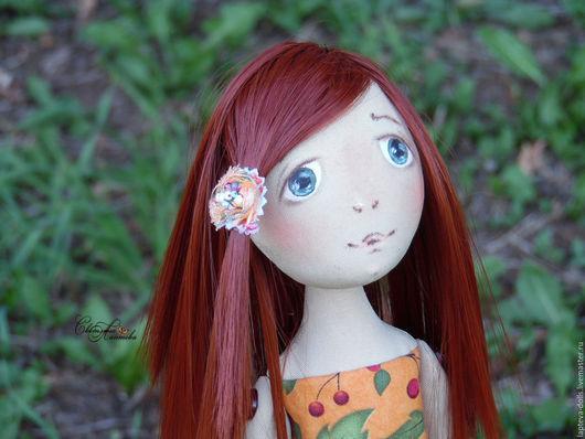 Коллекционные куклы ручной работы. Ярмарка Мастеров - ручная работа. Купить Текстильная кукла. Осень.. Handmade. Рыжие волосы, хлопок