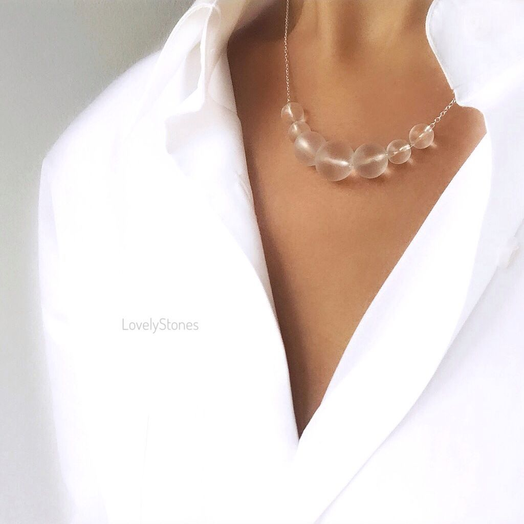 Necklace Matte rhinestone for work versatile in the office, Necklace, Yaroslavl,  Фото №1