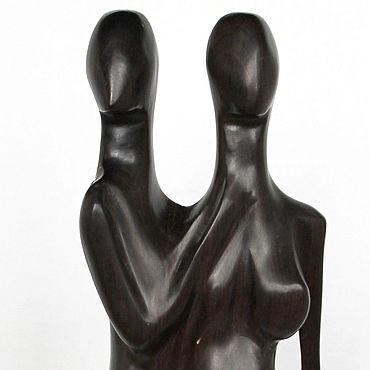 Для дома и интерьера ручной работы. Ярмарка Мастеров - ручная работа Скульптура Влюбленные ручной работы из черного дерева. Handmade.