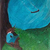"""Картины и панно ручной работы. Ярмарка Мастеров - ручная работа Картина """"Качели"""". Handmade."""