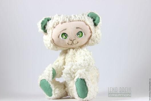 Мишки Тедди ручной работы. Ярмарка Мастеров - ручная работа. Купить Медвежонок  в стиле Тедди-Долл. Handmade. Белый
