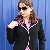 """Одежда handmade. Livemaster - original item Knitted suit """"a Study in pink"""". Handmade."""
