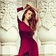 Платья ручной работы. Заказать Платье в пол асимметрик бордо. Dudu-dress. Ярмарка Мастеров. Вино, шикарное, бордовый цвет