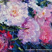 Картины и панно handmade. Livemaster - original item Oil painting with flowers. Peonies. For bedroom. Handmade.