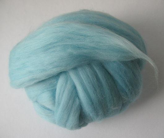 Валяние ручной работы. Ярмарка Мастеров - ручная работа. Купить Меринос 18 мк, Германия - цвет Голубая вода. Handmade.