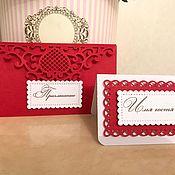 Приглашения ручной работы. Ярмарка Мастеров - ручная работа Приглашения, рассадочные карточки. Handmade.