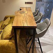 Для дома и интерьера handmade. Livemaster - original item Bar counter made of solid slab of mountain elm. Handmade.
