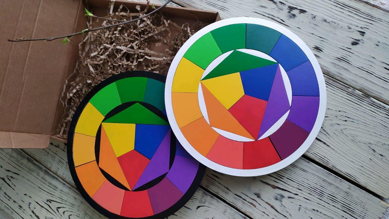 Itten color circle (wooden puzzle), Puzzle, St. Petersburg,  Фото №1