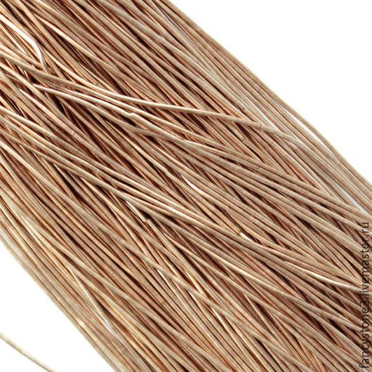 Для украшений ручной работы. Ярмарка Мастеров - ручная работа. Купить Канитель гладкая 1мм, цвет Латунь, Индия. Handmade.