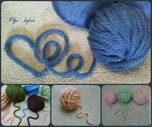 Пряжа ручной работы, на заказ возможен любой метраж, любая расцветка, из любой промышленной основной нити. пряжа для свитеров, шапочек, шарфов. изготовление 1 метра пряжи - шнура стоит 7-9 руб