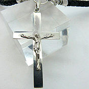 Украшения handmade. Livemaster - original item The cross of Jesus Christ silver length: 5 cm. Handmade.