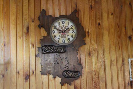 Часы для дома ручной работы. Ярмарка Мастеров - ручная работа. Купить Часы С юбилеем. Handmade. Часы, к юбилею, интерьер