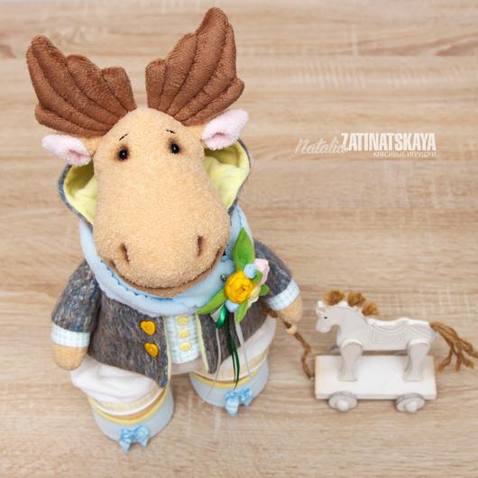 """Игрушки животные, ручной работы. Ярмарка Мастеров - ручная работа. Купить """"Лосяш"""" - авторская мягкая игрушка, 40 см. Handmade."""
