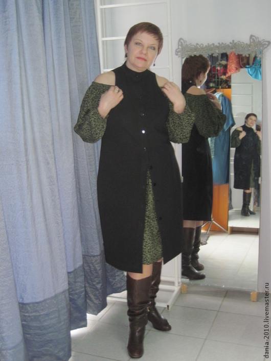 """Большие размеры ручной работы. Ярмарка Мастеров - ручная работа. Купить жилет-платье """"ЛЮБИМЫЙ"""". Handmade. Черный, большие размеры"""