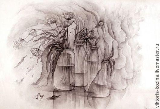 Натюрморт - мимолётность. Всё в жизни быстротечно... Засыхают цветы и травы,разбиваются стеклянные сосуды,пряные запахи растворяются в воздухе и исчезают...