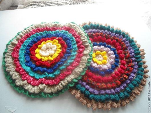 Текстиль, ковры ручной работы. Ярмарка Мастеров - ручная работа. Купить Чехол на табурет Цветок. Handmade. Разноцветный, уют, уютная