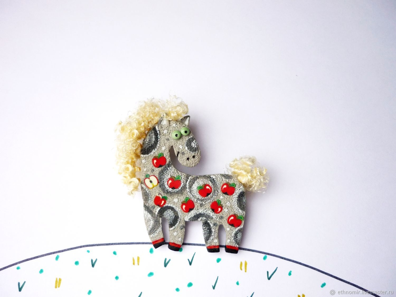 brooch 'five horses' No. №2, Brooches, Irbit, Фото №1