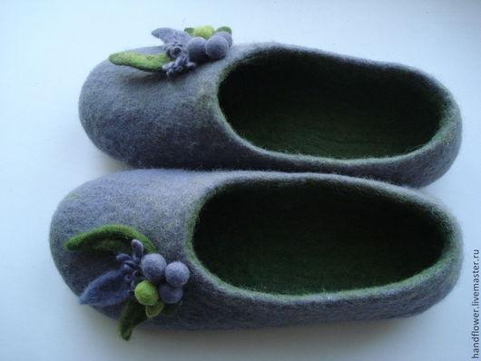 Обувь ручной работы. Ярмарка Мастеров - ручная работа. Купить Тапочки валяные домашние. Handmade. Тапочки домашние, шерсть меринос