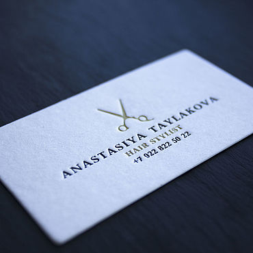 Дизайн и реклама ручной работы. Ярмарка Мастеров - ручная работа Визитка на хлопковой бумаге. Handmade.