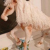 Мягкие игрушки ручной работы. Ярмарка Мастеров - ручная работа Лошадь Белая. Handmade.