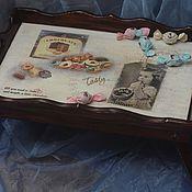 Для дома и интерьера handmade. Livemaster - original item Chocolate happiness (tray table). Handmade.