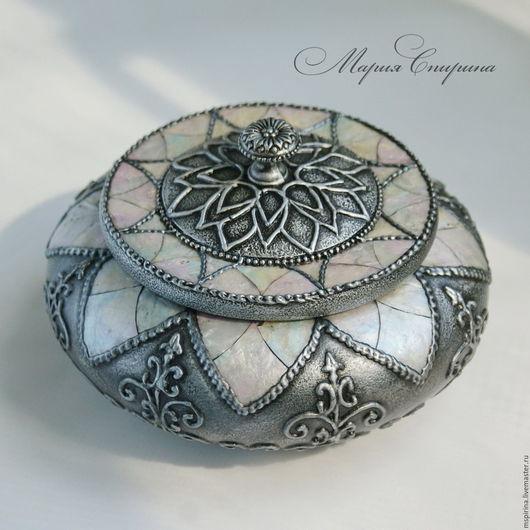 шкатулка для украшений, маша спирина, работа марии спириной, шкатулка, купить шкатулку, оригинальный подарок, имитация металла, оригинальная шкатулка, необычный подарок, перламутр