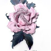 Украшения handmade. Livemaster - original item Brooch-pin: Rose in frost. Handmade.