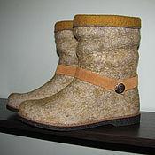 Обувь ручной работы handmade. Livemaster - original item Booties felted