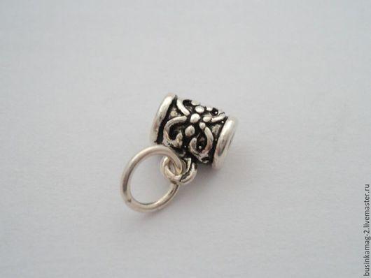 Для украшений ручной работы. Ярмарка Мастеров - ручная работа. Купить Бейл с кольцом серебро 925 проба 7мм, 2 вида. Handmade.