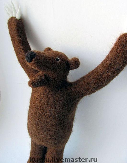 Сказочные персонажи ручной работы. Ярмарка Мастеров - ручная работа. Купить Превед Медвед, войлок. Handmade. Медвед, игрушка валяная
