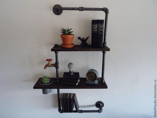 Мебель ручной работы. Ярмарка Мастеров - ручная работа. Купить Полка из водопроводной трубы в стиле Loft. Handmade. Лофт, мода