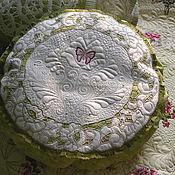 Для дома и интерьера ручной работы. Ярмарка Мастеров - ручная работа Декоративная подушка  с ришелье. Handmade.