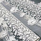 Тюль ручной работы. Ярмарка Мастеров - ручная работа Белая органза для кухни. Handmade.